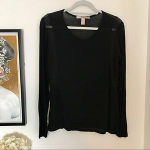 Forever 21 black long sleeve with side see thru XS